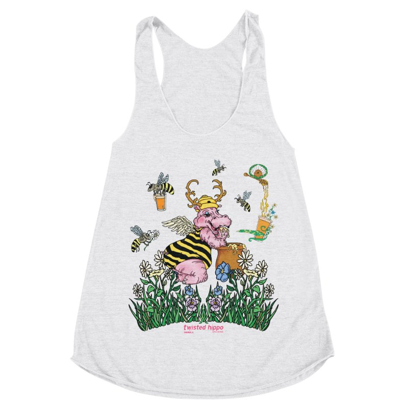 The Bee's Sleaze Women's Racerback Triblend Tank by Twisted Hippo Brewing