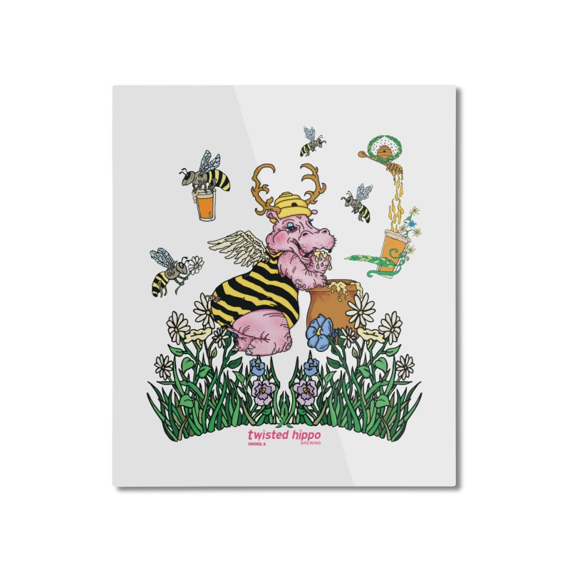 The Bee's Sleaze Home Mounted Aluminum Print by Twisted Hippo Brewing