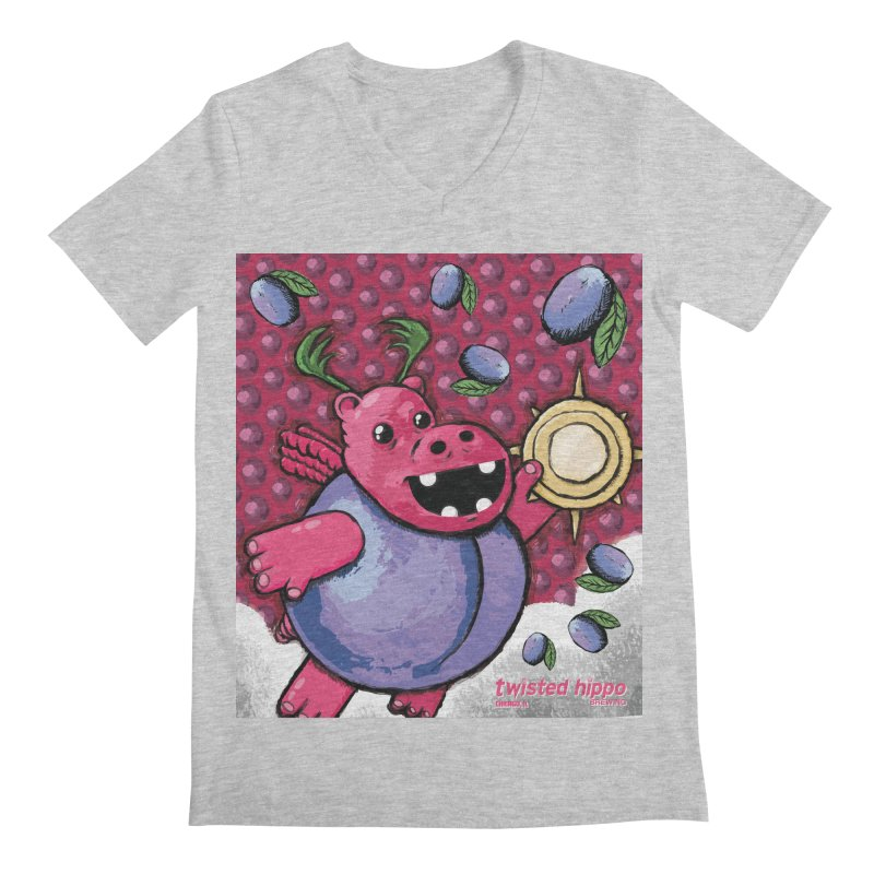 PLUMpass Men's V-Neck by Twisted Hippo Brewing
