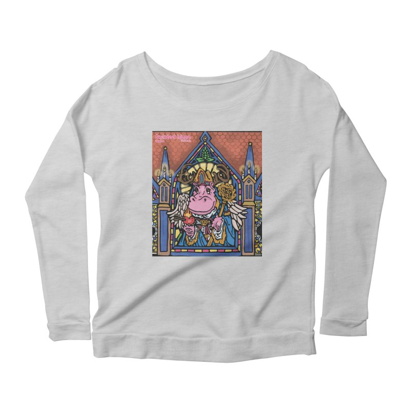 Ol' St. Auggie's Women's Scoop Neck Longsleeve T-Shirt by Twisted Hippo Brewing