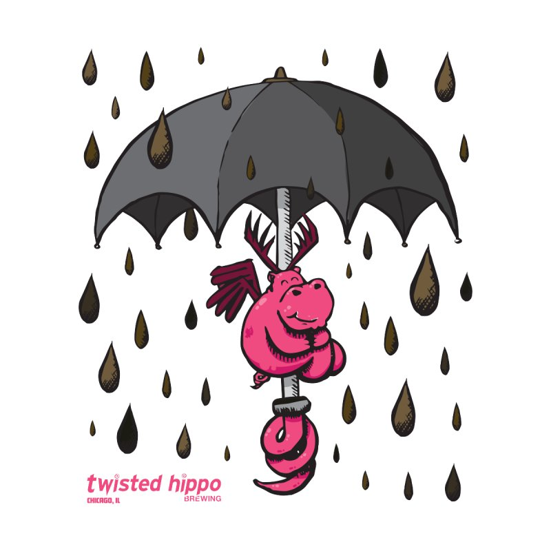 Black Umbrella Men's V-Neck by Twisted Hippo Brewing
