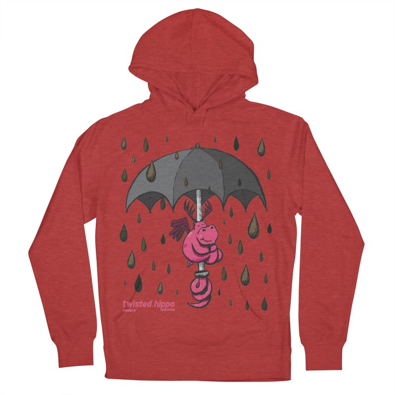 Black Umbrella Men's French Terry Pullover Hoody by Twisted Hippo Brewing