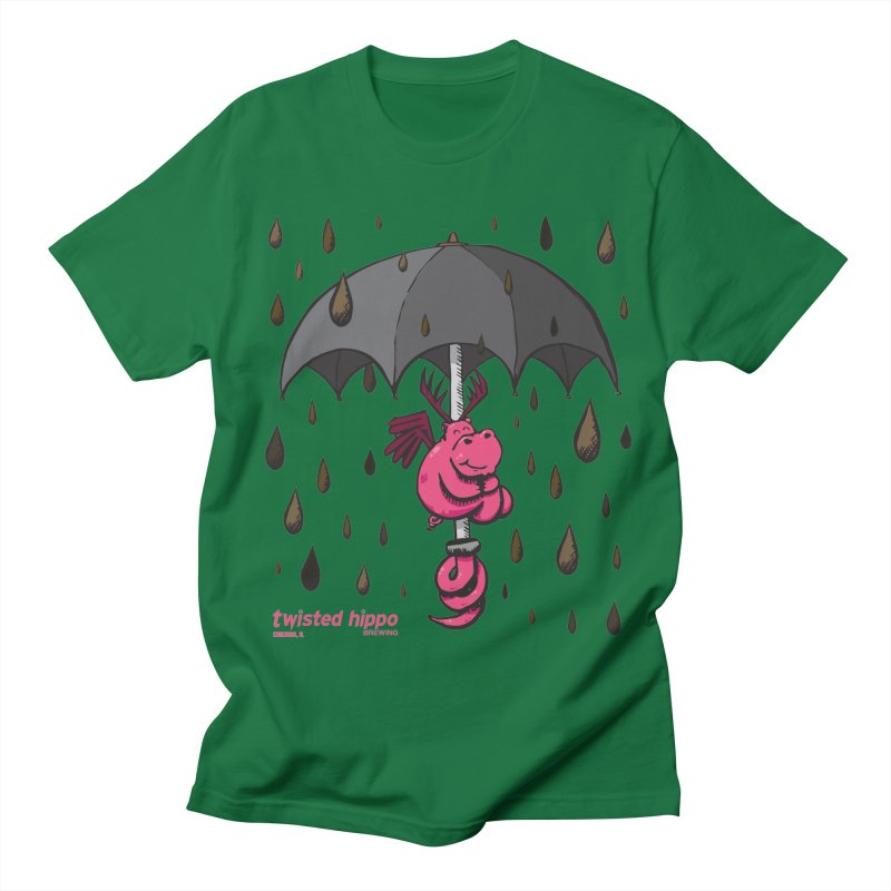 Black Umbrella Men's T-Shirt by Twisted Hippo Brewing
