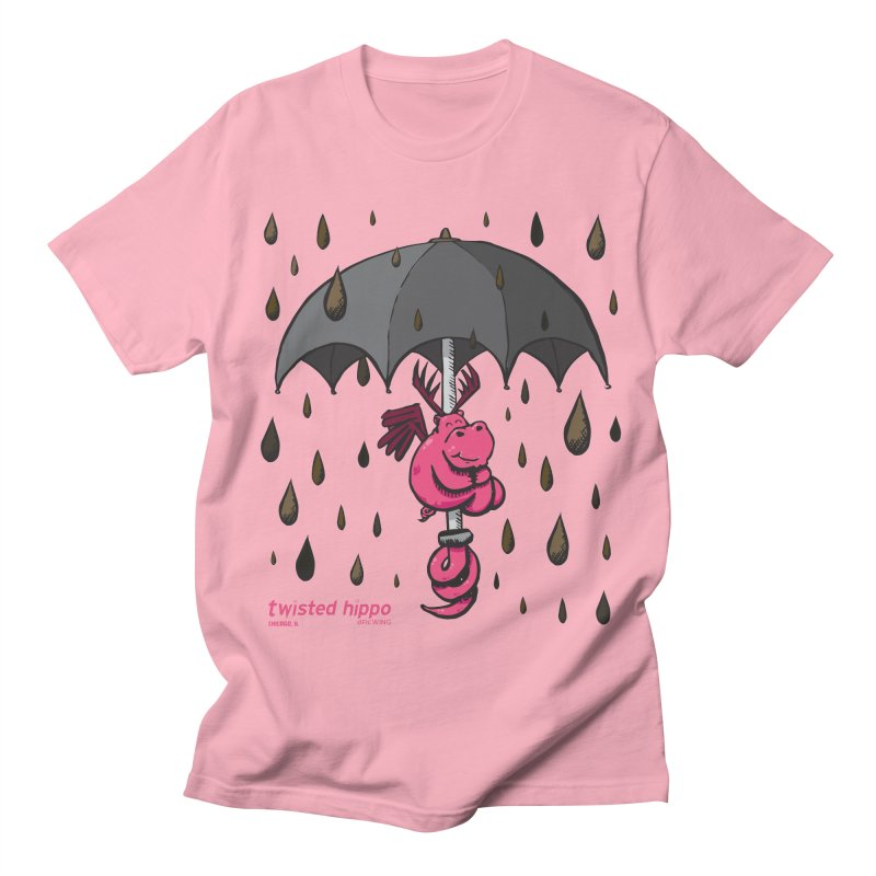 Black Umbrella Women's Regular Unisex T-Shirt by Twisted Hippo Brewing