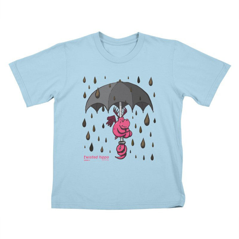 Black Umbrella Kids T-Shirt by Twisted Hippo Brewing