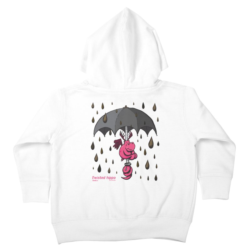 Black Umbrella Kids Toddler Zip-Up Hoody by Twisted Hippo Brewing