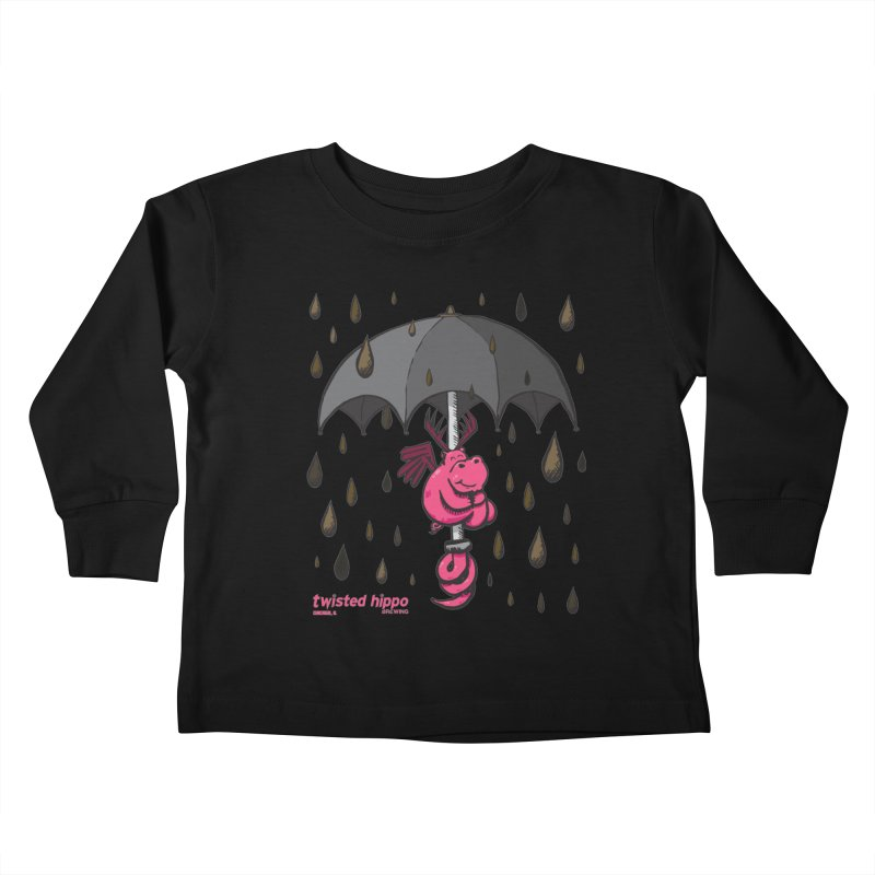 Black Umbrella Kids Toddler Longsleeve T-Shirt by Twisted Hippo Brewing