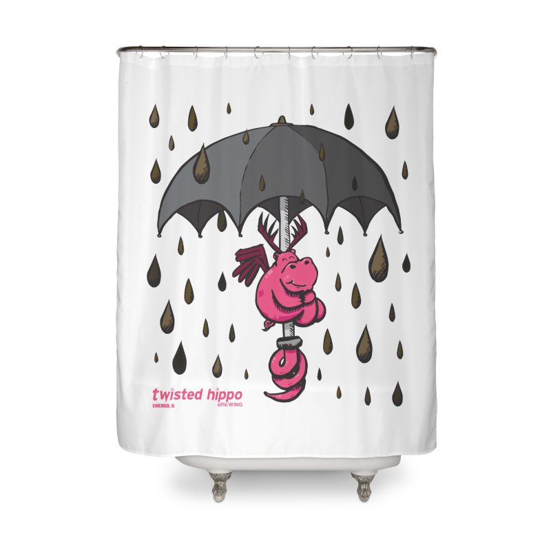 Black Umbrella Home Shower Curtain by Twisted Hippo Brewing