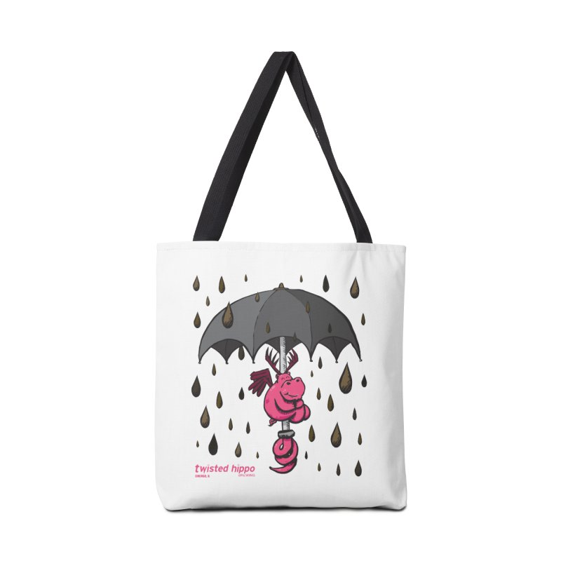 Black Umbrella Accessories Tote Bag Bag by Twisted Hippo Brewing