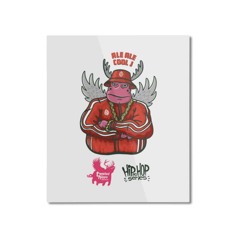 Ale Ale Cool J Home Mounted Aluminum Print by Twisted Hippo Brewing