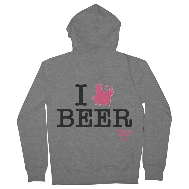 I Hippo Beer Men's Zip-Up Hoody by Twisted Hippo Brewing