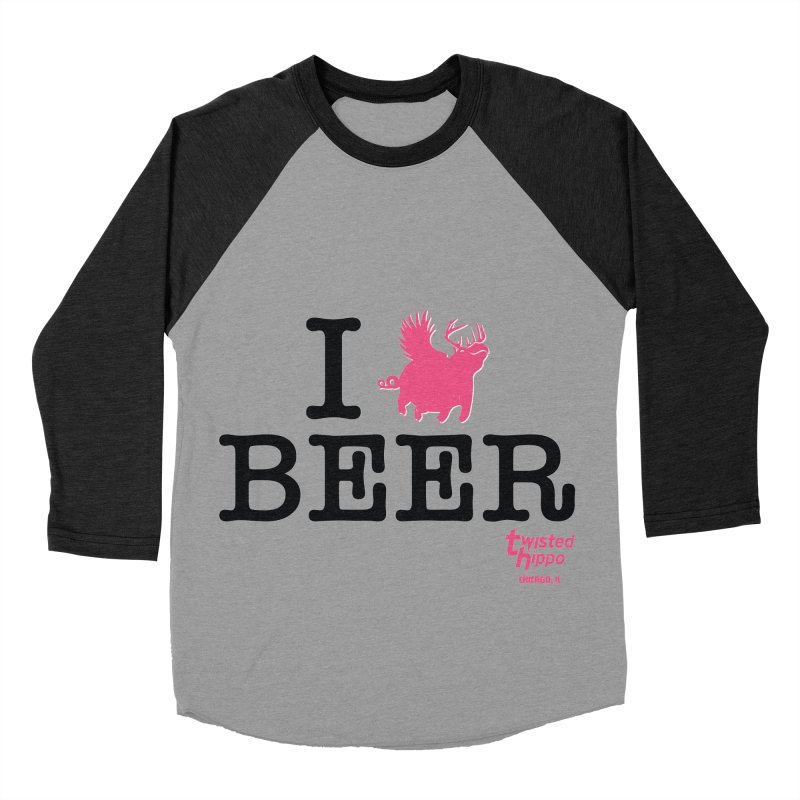 I Hippo Beer Men's Baseball Triblend Longsleeve T-Shirt by Twisted Hippo Brewing