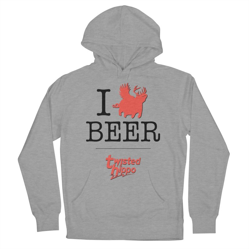I Hippo Beer Women's French Terry Pullover Hoody by Twisted Hippo Brewing