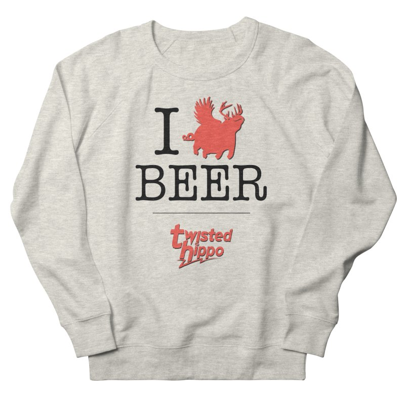 I Hippo Beer Women's French Terry Sweatshirt by Twisted Hippo Brewing