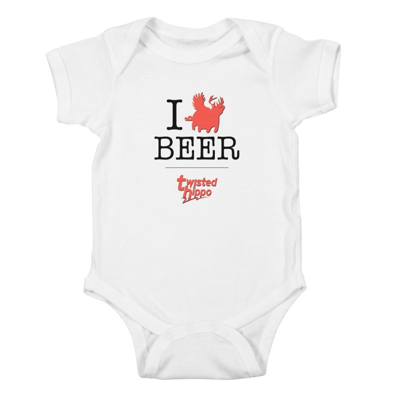 I Hippo Beer Kids Baby Bodysuit by Twisted Hippo Brewing