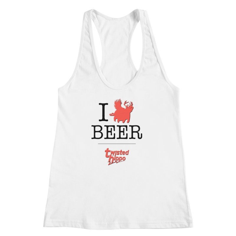 I Hippo Beer Women's Racerback Tank by Twisted Hippo Brewing