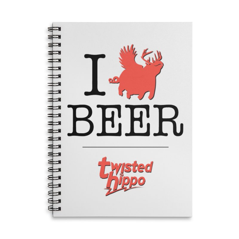 I Hippo Beer Accessories Lined Spiral Notebook by Twisted Hippo Brewing