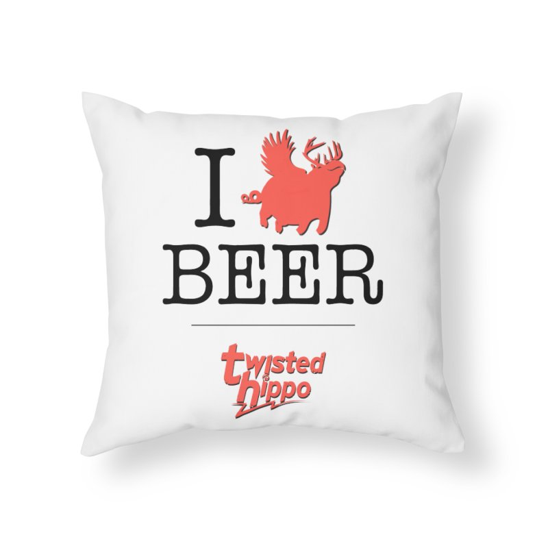 I Hippo Beer Home Throw Pillow by Twisted Hippo Brewing