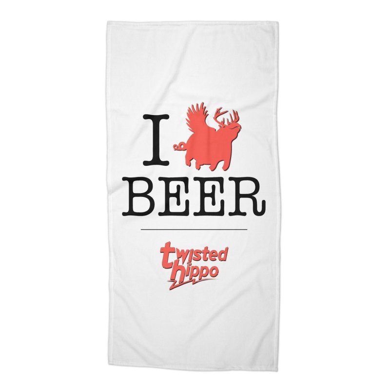 I Hippo Beer Accessories Beach Towel by Twisted Hippo Brewing