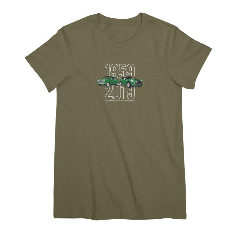 MINI 60th Anniversary Women's Premium T-Shirt by TwistyMini Motoring Shirts