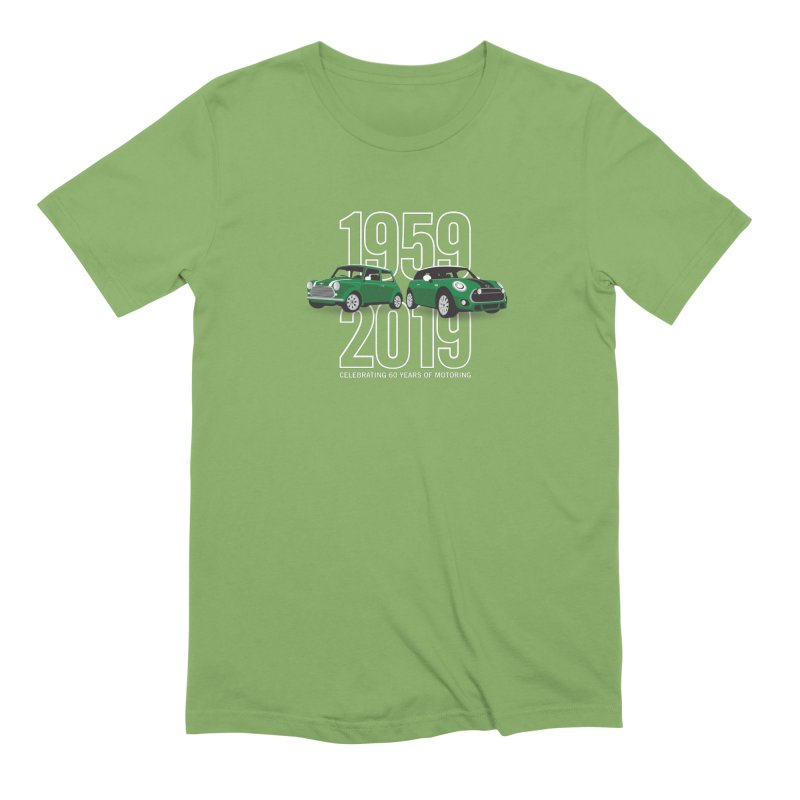 MINI 60th Anniversary Men's Extra Soft T-Shirt by TwistyMini Motoring Shirts