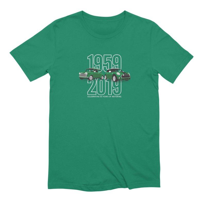 MINI 60th Anniversary Men's Extra Soft T-Shirt by TwistyMini Motoring Shirts