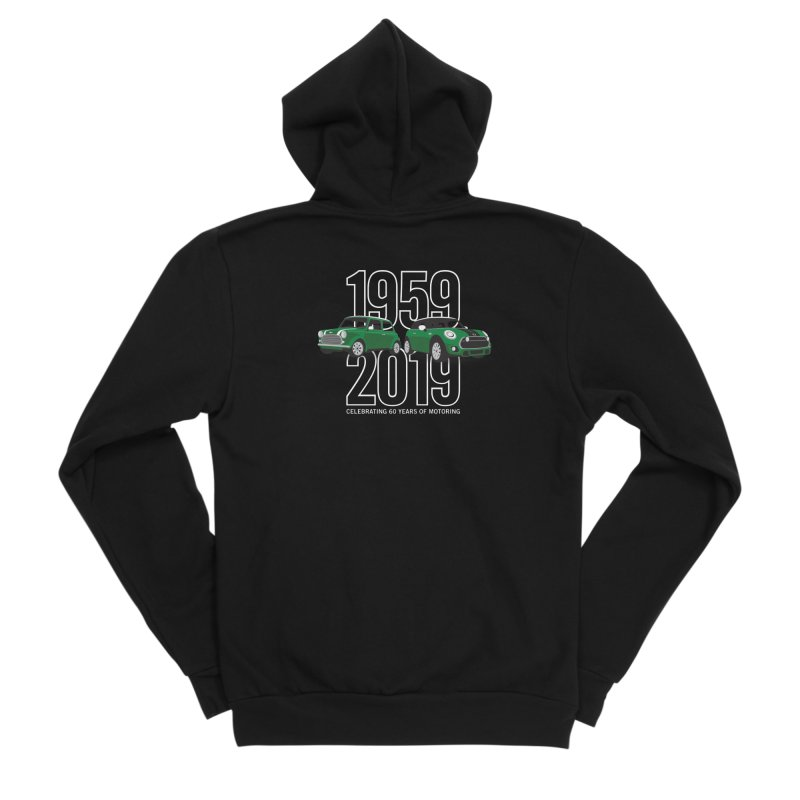 MINI 60th Anniversary Men's Sponge Fleece Zip-Up Hoody by TwistyMini Motoring Shirts
