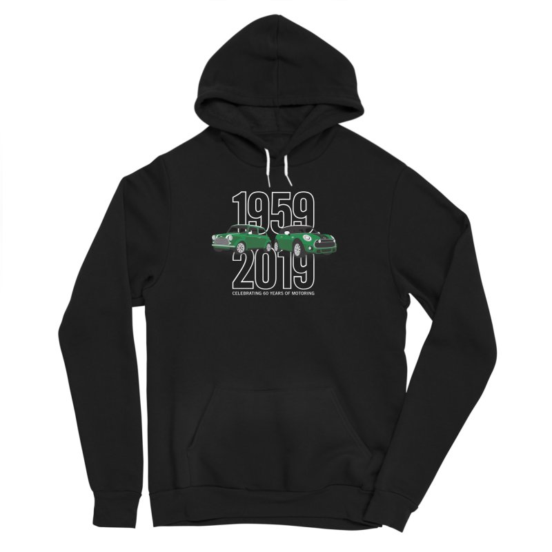 MINI 60th Anniversary Women's Sponge Fleece Pullover Hoody by TwistyMini Motoring Shirts