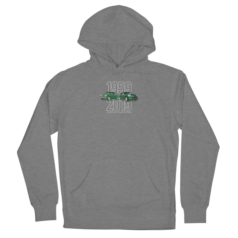 MINI 60th Anniversary Men's French Terry Pullover Hoody by TwistyMini Motoring Shirts