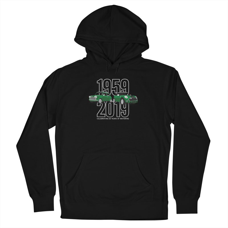 MINI 60th Anniversary Women's French Terry Pullover Hoody by TwistyMini Motoring Shirts