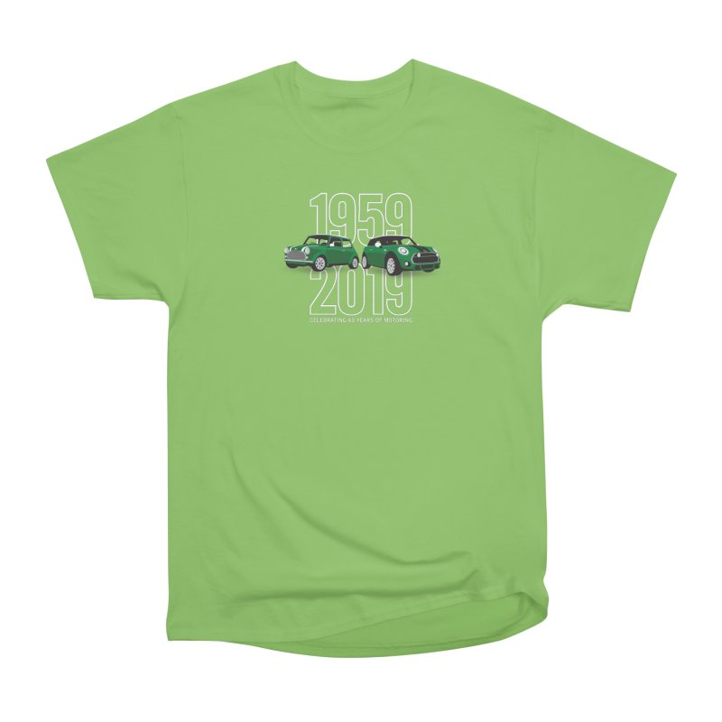 MINI 60th Anniversary Women's Heavyweight Unisex T-Shirt by TwistyMini Motoring Shirts