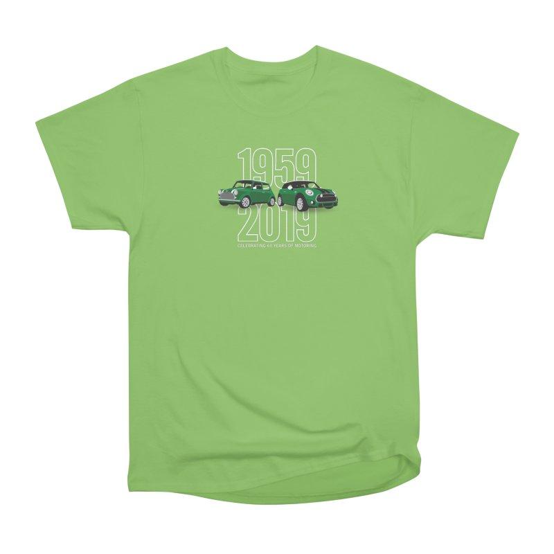 MINI 60th Anniversary Men's Heavyweight T-Shirt by TwistyMini Motoring Shirts