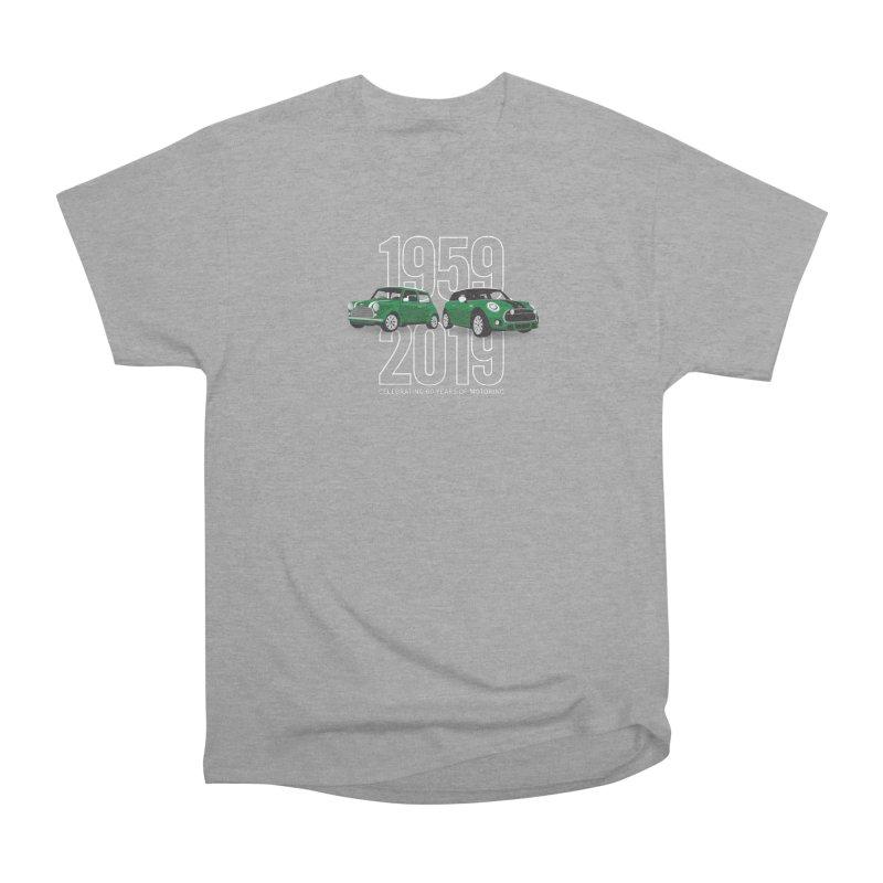 MINI 60th Anniversary Women's Heavyweight Unisex T-Shirt by TwistyMini Motoring Shirts