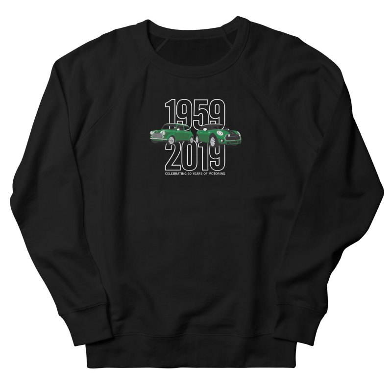 MINI 60th Anniversary Women's French Terry Sweatshirt by TwistyMini Motoring Shirts
