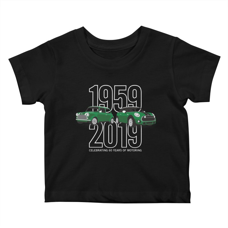 MINI 60th Anniversary Kids Baby T-Shirt by TwistyMini Motoring Shirts