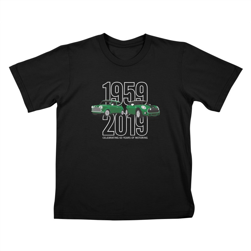 MINI 60th Anniversary Kids T-Shirt by TwistyMini Motoring Shirts