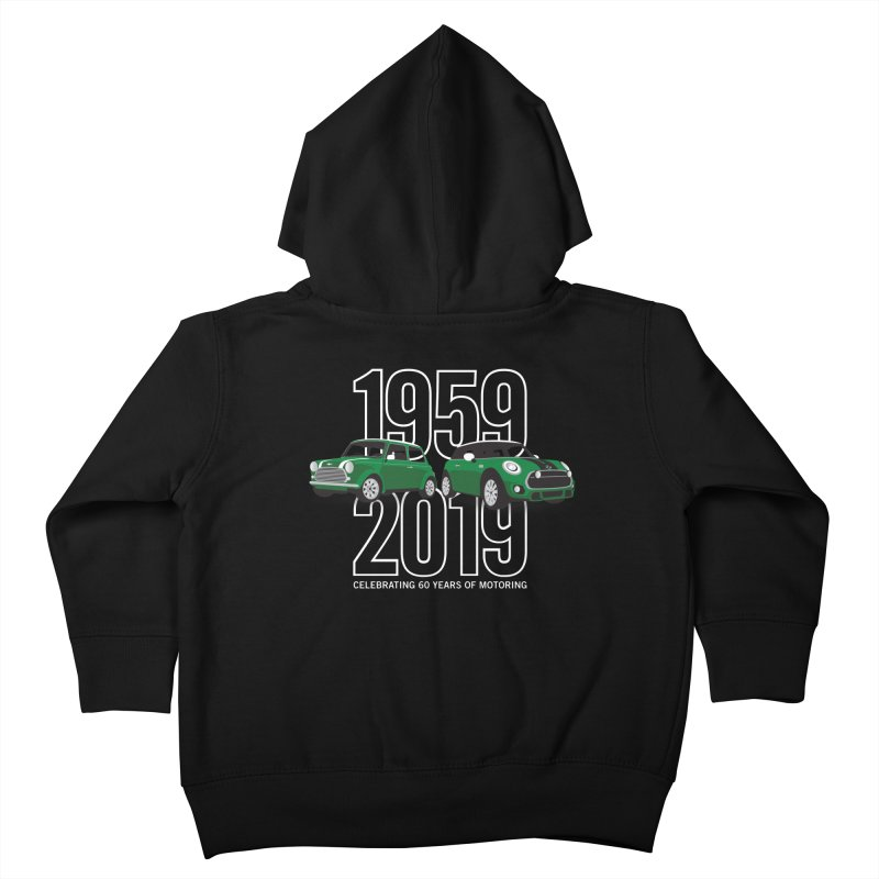 MINI 60th Anniversary Kids Toddler Zip-Up Hoody by TwistyMini Motoring Shirts