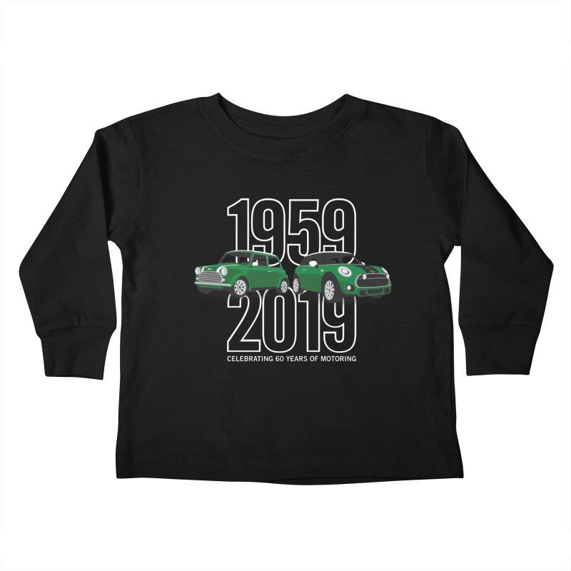 MINI 60th Anniversary Kids Toddler Longsleeve T-Shirt by TwistyMini Motoring Shirts