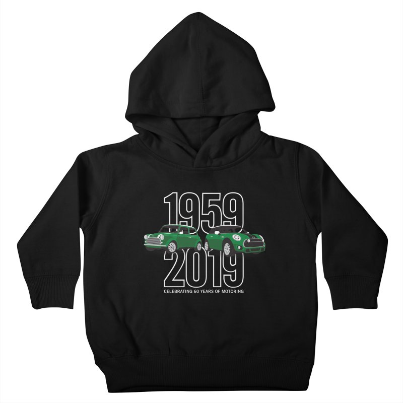 MINI 60th Anniversary Kids Toddler Pullover Hoody by TwistyMini Motoring Shirts