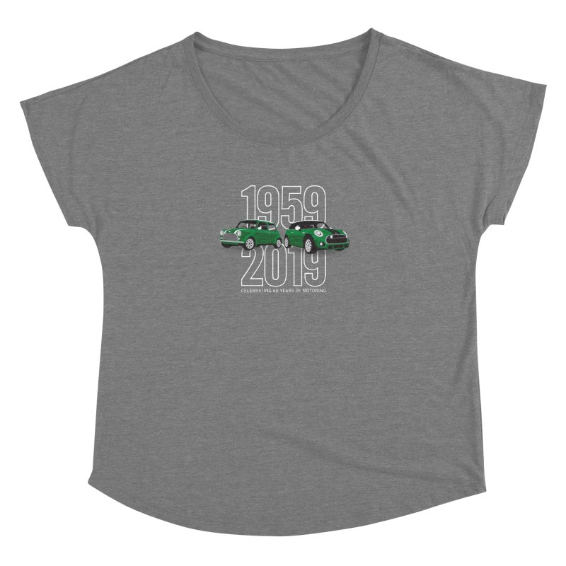 MINI 60th Anniversary Women's Dolman Scoop Neck by TwistyMini Motoring Shirts