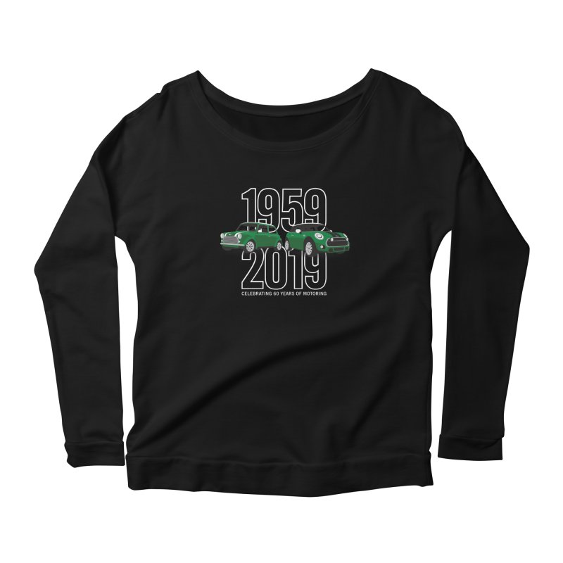 MINI 60th Anniversary Women's Scoop Neck Longsleeve T-Shirt by TwistyMini Motoring Shirts