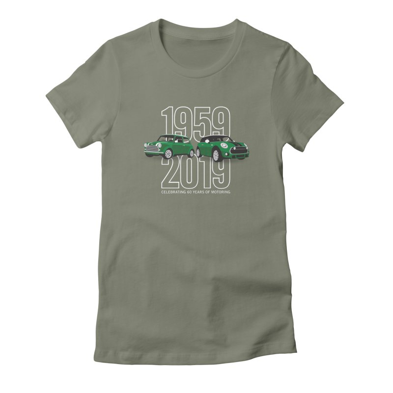 MINI 60th Anniversary Women's Fitted T-Shirt by TwistyMini Motoring Shirts