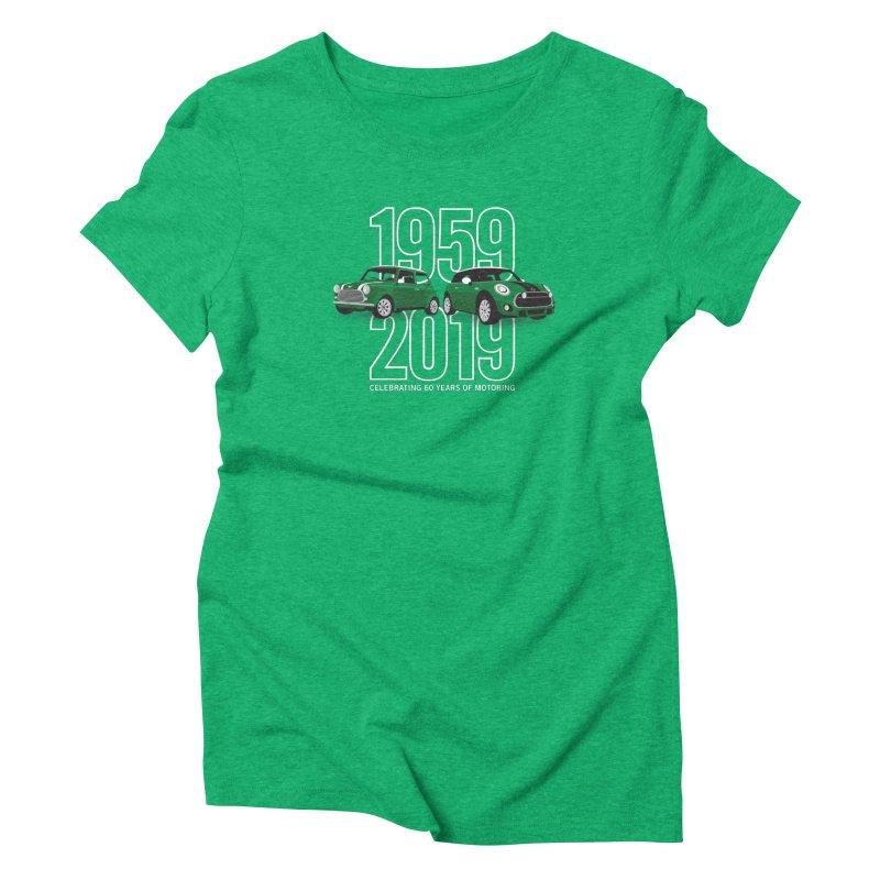 MINI 60th Anniversary Women's Triblend T-Shirt by TwistyMini Motoring Shirts