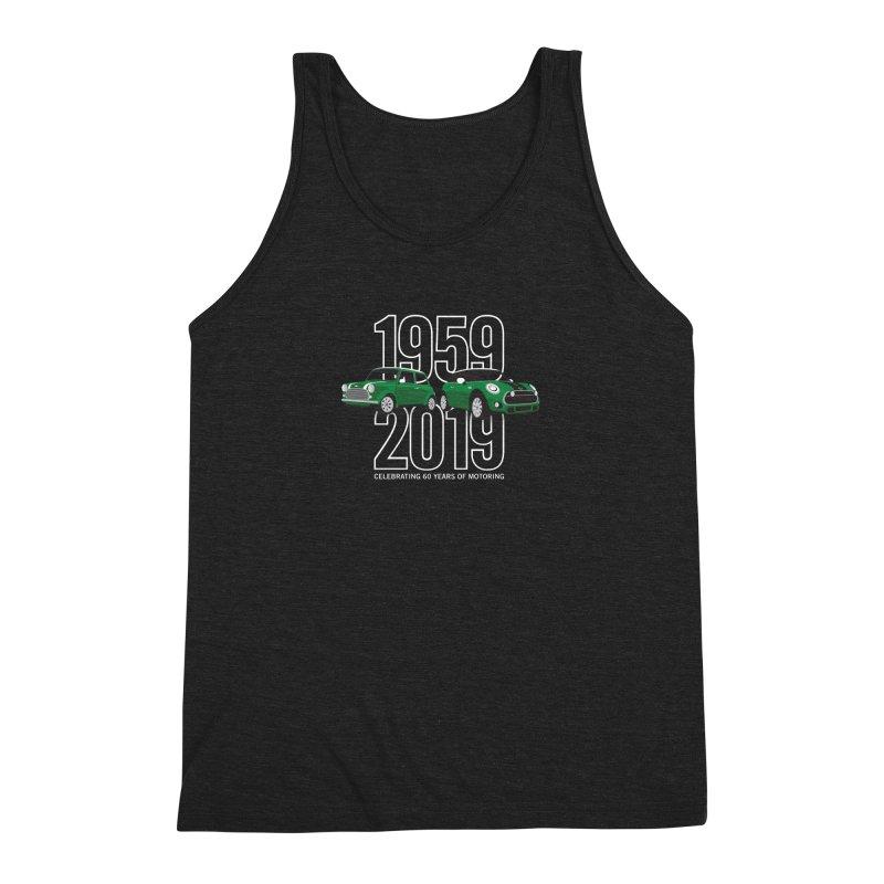 MINI 60th Anniversary Men's Triblend Tank by TwistyMini Motoring Shirts