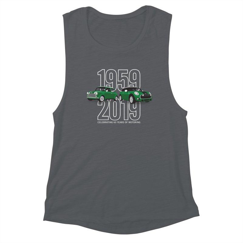 MINI 60th Anniversary Women's Muscle Tank by TwistyMini Motoring Shirts