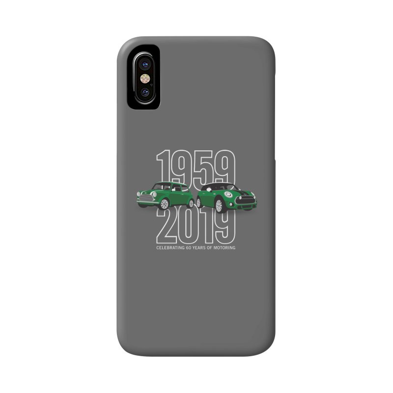 MINI 60th Anniversary Accessories Phone Case by TwistyMini Motoring Shirts
