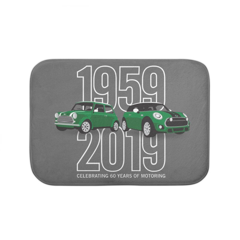 MINI 60th Anniversary Home Bath Mat by TwistyMini Motoring Shirts