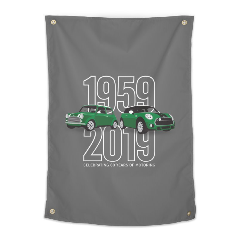 MINI 60th Anniversary Home Tapestry by TwistyMini Motoring Shirts