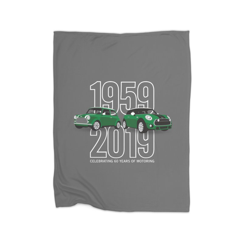 MINI 60th Anniversary Home Fleece Blanket Blanket by TwistyMini Motoring Shirts