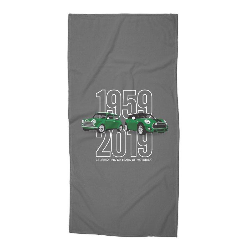 MINI 60th Anniversary Accessories Beach Towel by TwistyMini Motoring Shirts